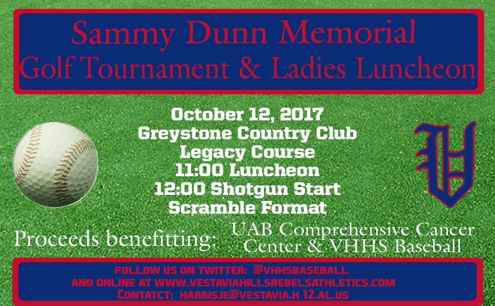 Sammy Dunn Memorial Golf Tournament & Ladies Luncheon Set For Oct. 12