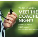 Winter Athletics- Meet the Coaches Night