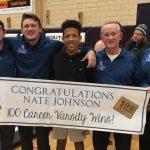 Nate Johnson Earns 100th Varsity Win