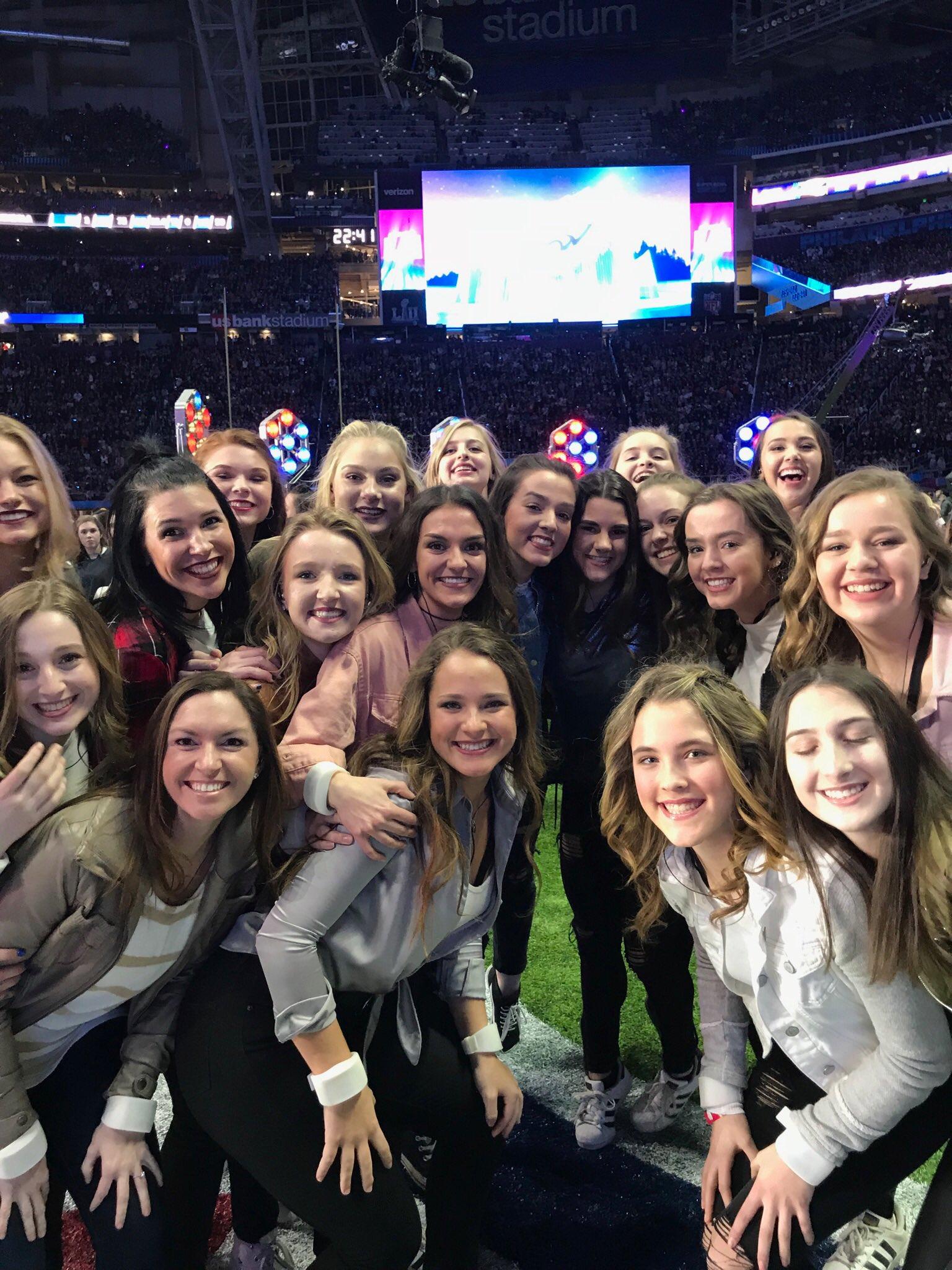 Hopkins Royelles perform at Super Bowl LII