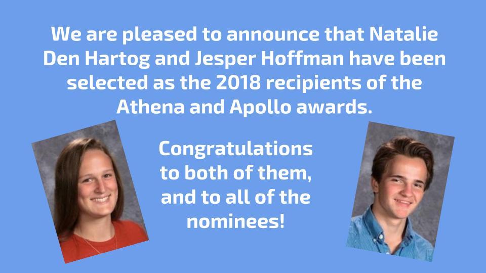 2018 Athena and Apollo Awards