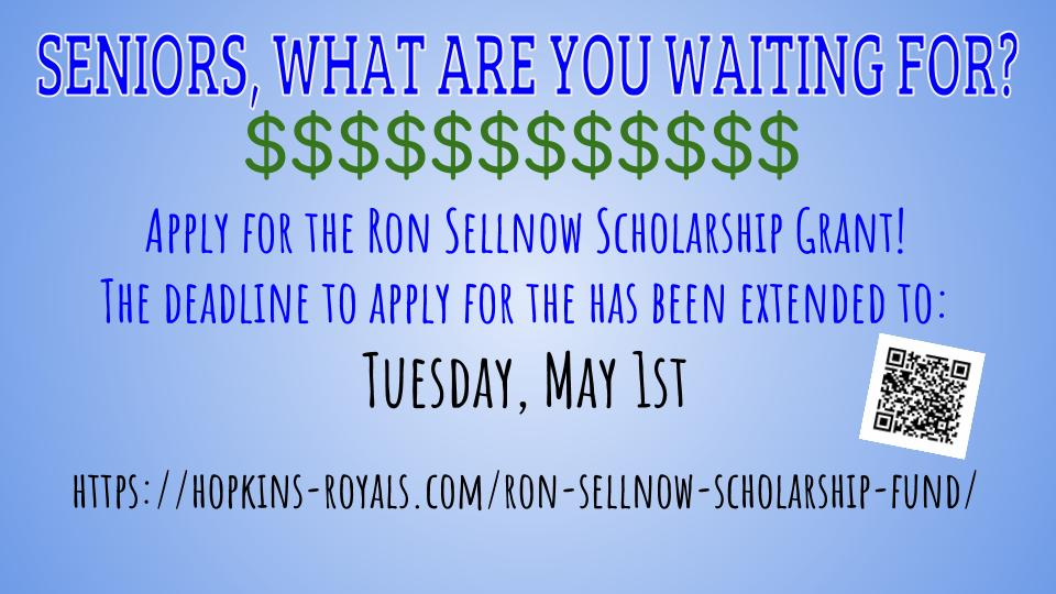 Apply for the Ron Sellnow Scholarship Fund – Deadline extended to May 1st!