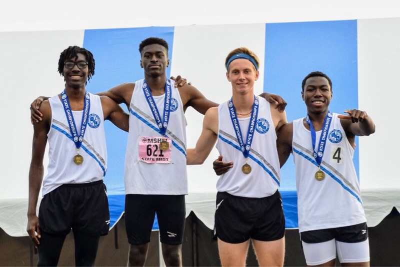 Boys claim a Championship & new State Record in the 4x200M Relay