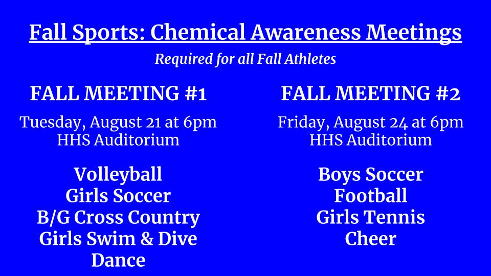 Fall Chemical Meeting Details