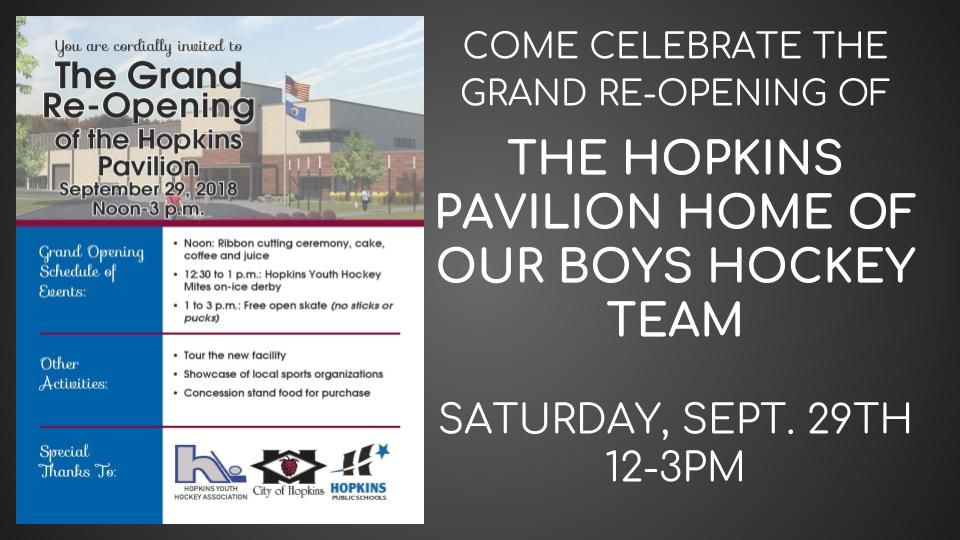 Hopkins Pavilion – Grand Re-Opening