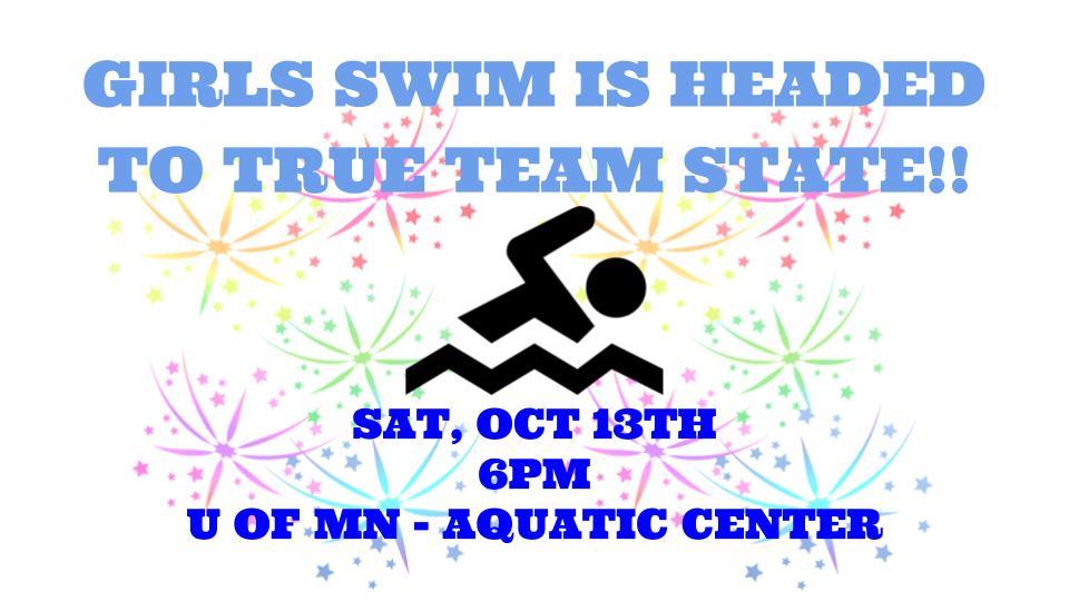 Girls Swim headed to True Team State!