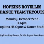Dance Team Tryouts – Mon. 10/22
