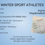 The Winter Athletic Season is Upon Us!