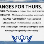 CHANGES FOR THURS. 2/7