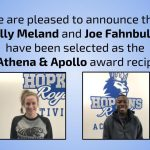 Molly Meland & Joe Fahnbulleh named 2019 Athena & Apollo award recipients!