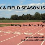 Track season begins Mon. March 11th
