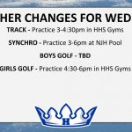WEATHER CHANGES FOR WED. 4/10 (cont.)