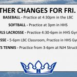 WEATHER CHANGES FOR FRI. 4/12