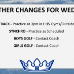 WEATHER CHANGES FOR WED. 5/8