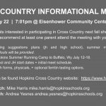 2019 Cross Country Informational Meeting