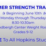 Summer Strength Training begins Monday, June 10th