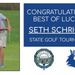 Good luck to Seth Schricker at the State Golf Tournament