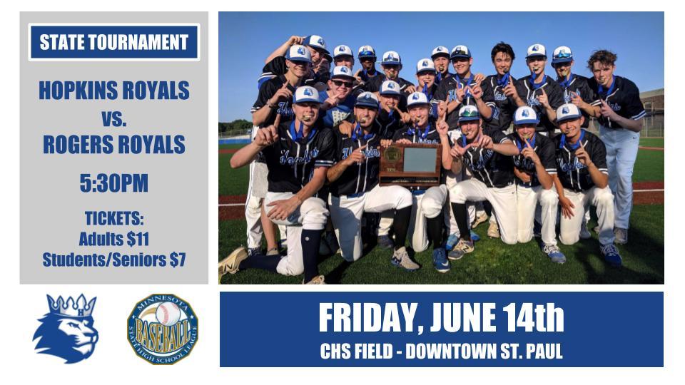 State Baseball Tournament starts TODAY!