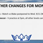 Weather Changes for Today – Mon. 9/9