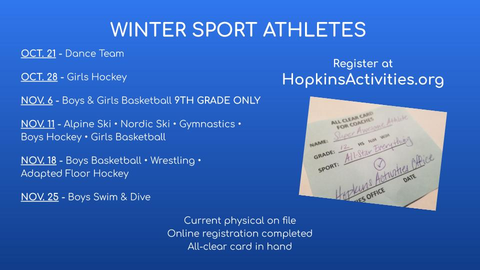 Winter Season Registration is Available!