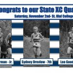 Congrats to our State Cross Country Qualifiers!