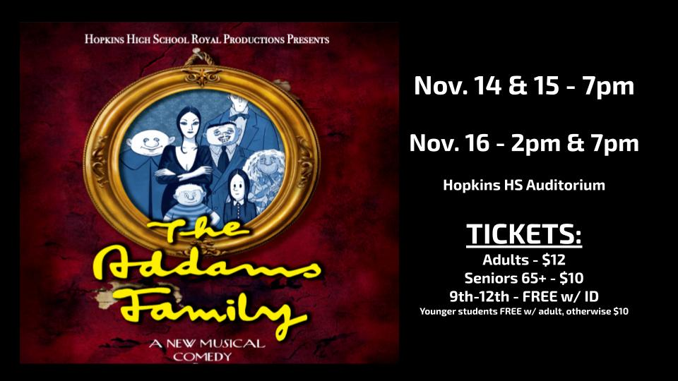 HHS Royal Productions Presents – The Addams Family