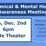 Winter Athletes – Chemical & Mental Health  Awareness Meeting