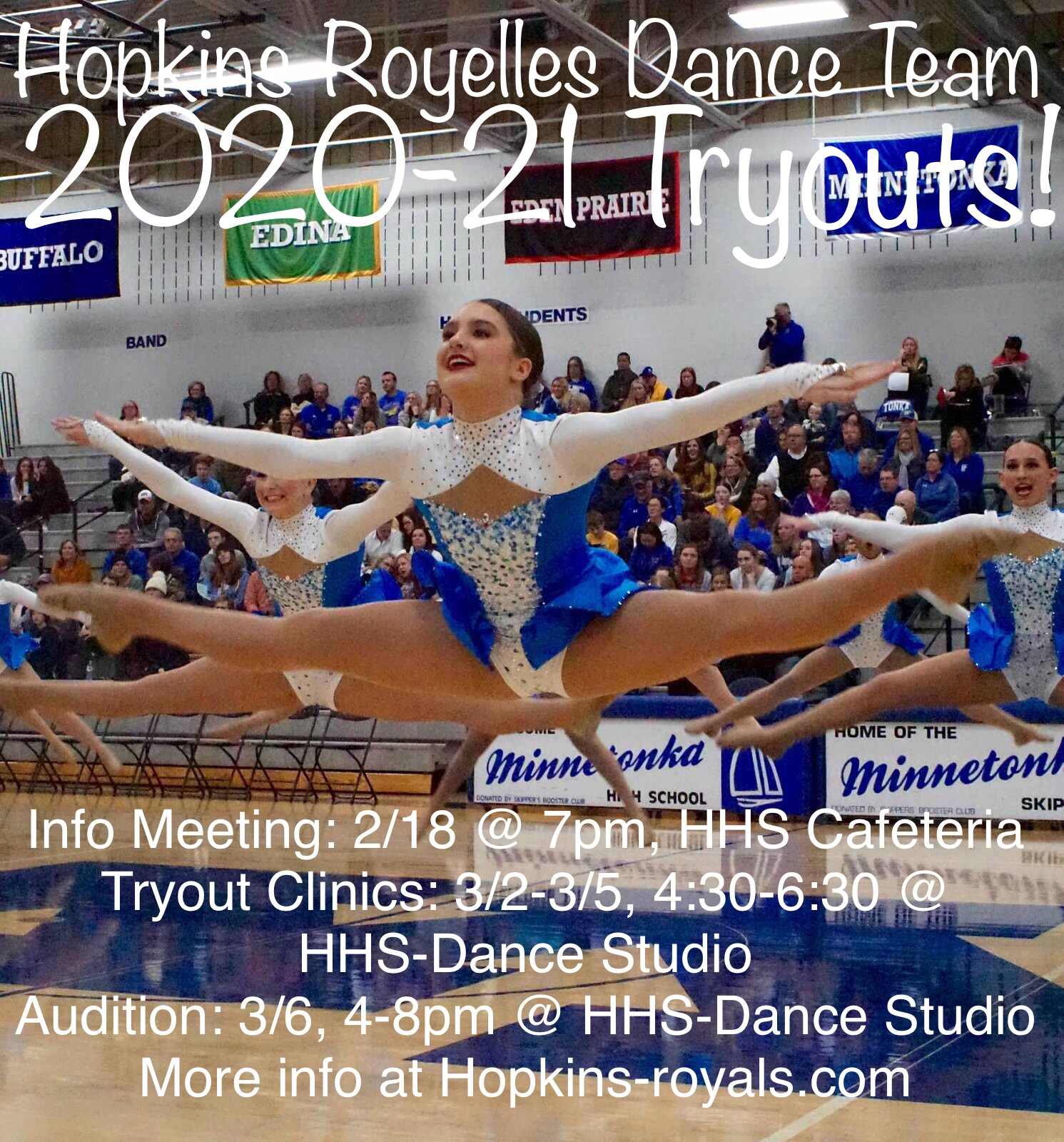 Royelles Dance Team 2020-21 Tryouts March 2-6!