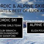 Congratulations Nordic & Alpine Skiers!