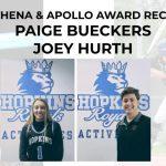 Paige Bueckers & Joey Hurth named 2020 Athena & Apollo Award recipients!