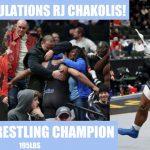 Congrats to RJ Chakolis- State Wrestling Champion!
