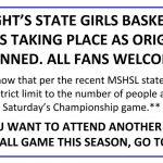 UPDATE: State Girls Basketball Tournament