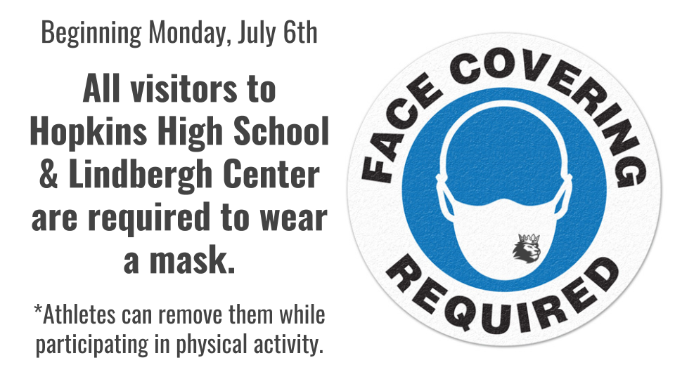 As of Monday, July 6th Masks are REQUIRED!