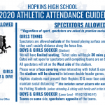 Spectator Attendance Guidelines – Fall 2020
