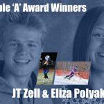 JT Zell & Eliza Polyak earn 20-21 Triple 'A' Award