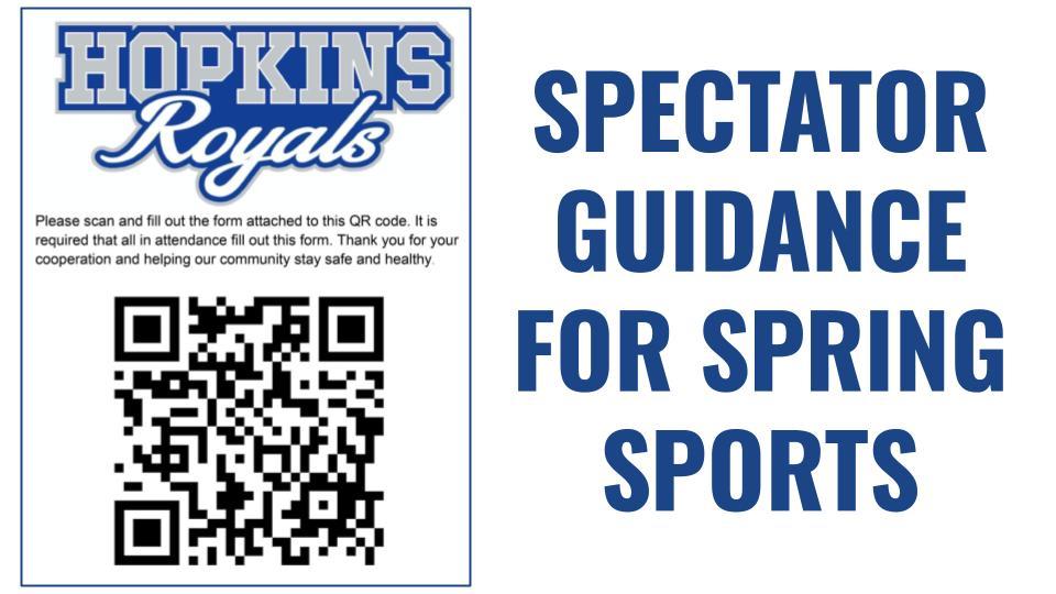 Spectator Guidance for Spring Sports
