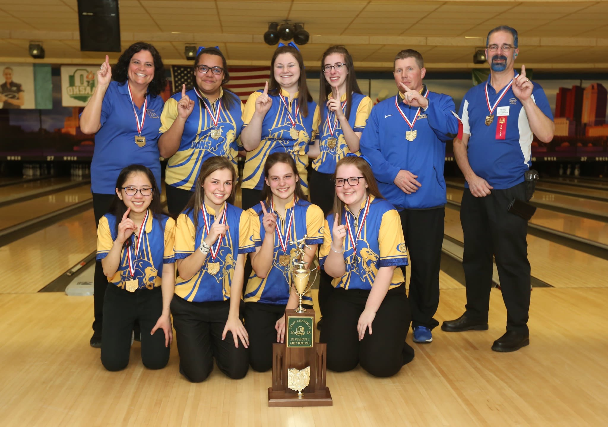 Girls Bowling State Champs!