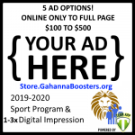 Gahanna Athletic Boosters 2019-2020 Advertising Opportunity