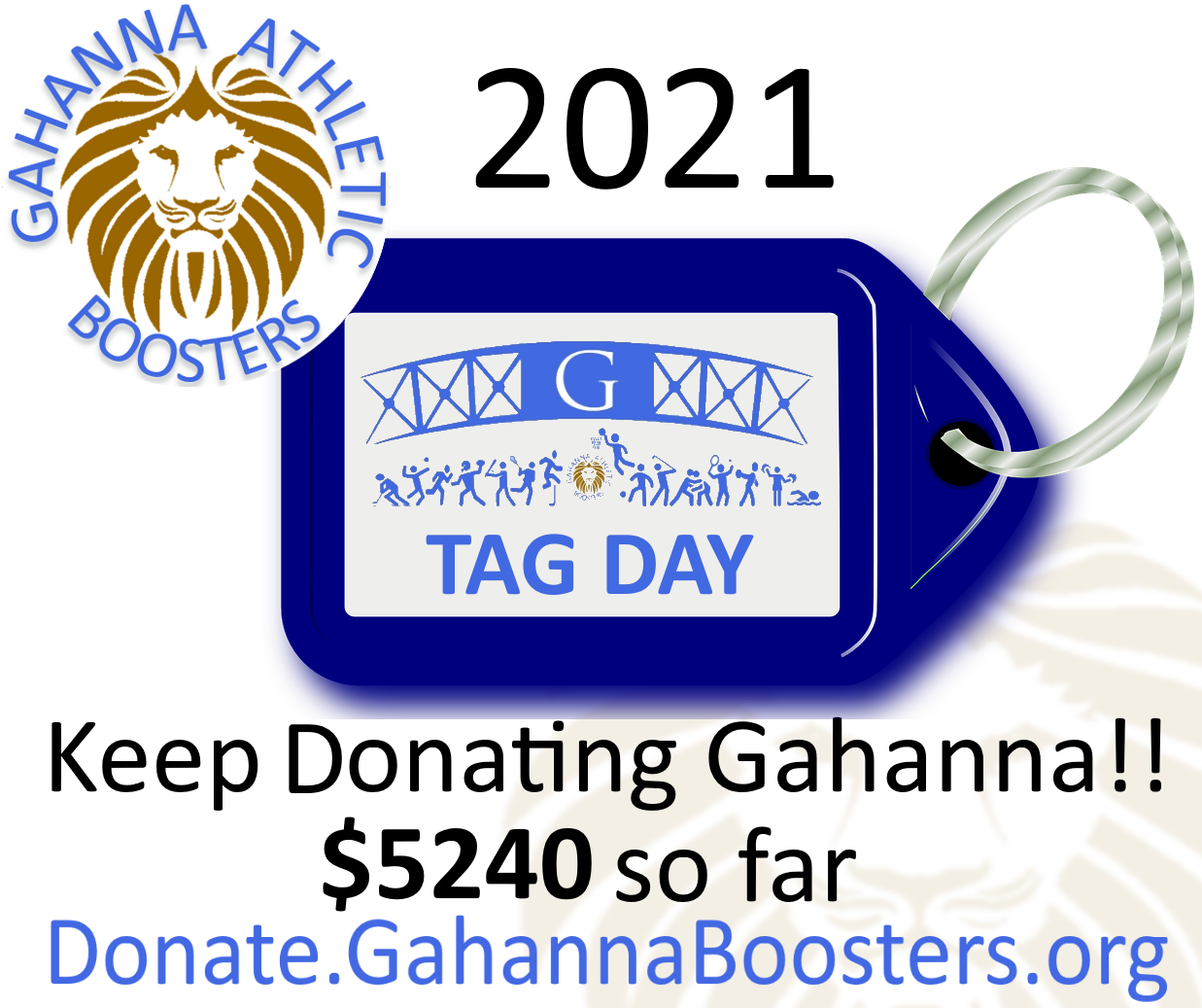 LAST CHANCE for TAG DAY 2021 – $5240 Collected!!!