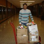 Wrestlers Collect Canned Goods