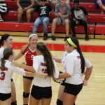 Portage High School Girls Varsity Volleyball beat Chesterton High School 2-1