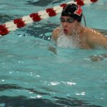 Portage High School Boys Varsity Swimming falls to Crown Point High School 81-105