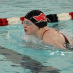 Portage High School Girls Varsity Swimming falls to Crown Point High School 53-133