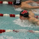 Portage High School Boys Varsity Swimming falls to Lake Central High School 71-115