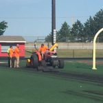First Day of Construction on Turf/Track