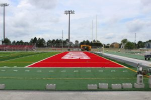 PHS Football Field Turf Construction