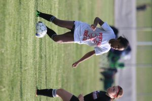 High School Girls Playing Soccer
