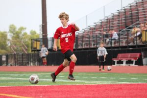 High School Boys Playing Soccer