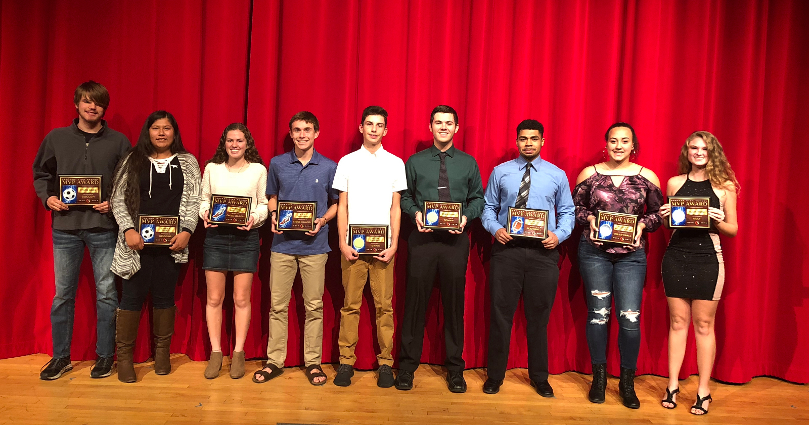 Fall Sports MVP's Take Center Stage