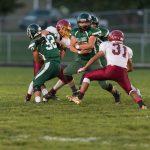 Monrovia High School Varsity Football falls to Scecina Mem. High School 14-13